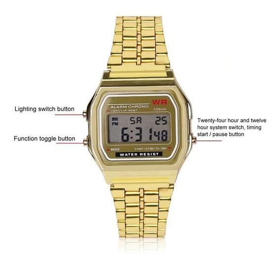 Relógio Wr Vintage Pulso Digital Clássico - Cores
