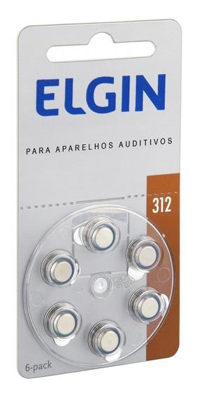 Pilha Bateria Para Aparelho Auditivo 6 Unidades 1.4v Elgin