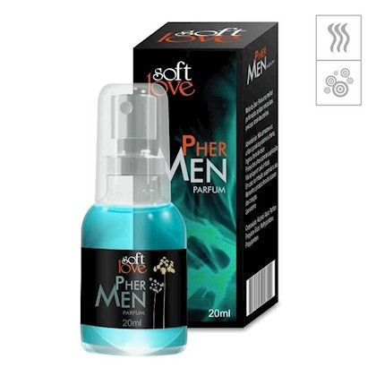 Perfume Afrodisíaco Soft Love 20ml - Pher Men (masculino)
