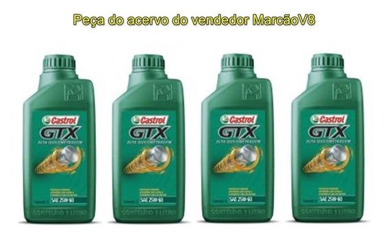 4 Óleo Castrol Gtx 20w60 Mineral Api Sl Sae Anti Borra
