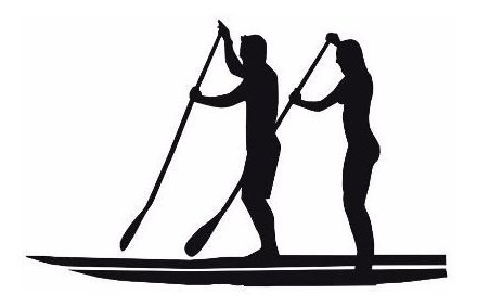 Adesivo Stand Up Paddle Casal Sup Surf
