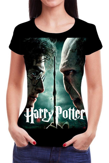 Camiseta Camisa Feminina Roupas Harry Potter Famosas Blusinha 3d