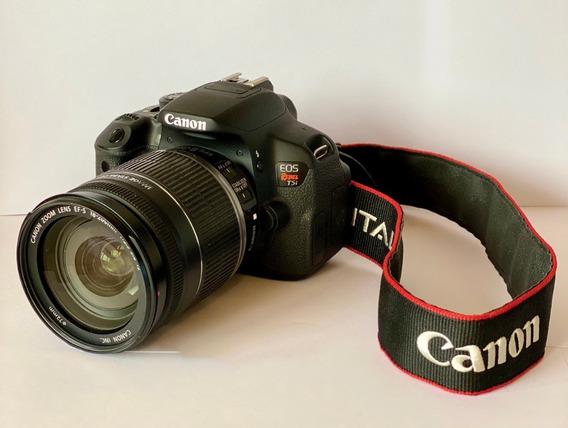Cámara Canon Rebel T5i +2 Lentes Canon+filtros+bolso+memoria
