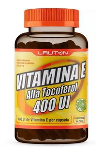 Vitamina E 500mg 400 Ui C/ 60 Cápsulas Promoção + Brinde