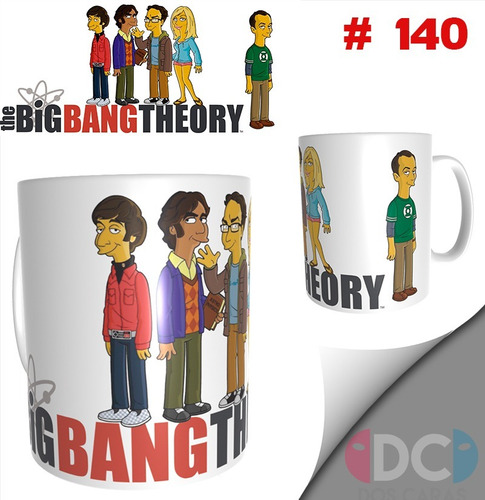 Taza De The Big Bang Theory Simpsonizados #140