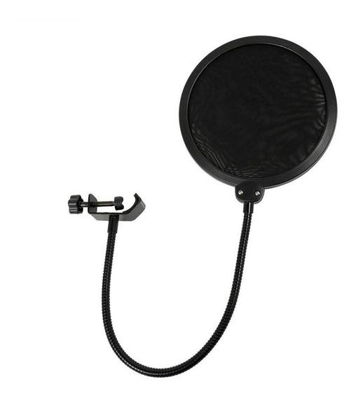 Pop Filter Turbo Anti-puff Com Pescoço Para Microfone Pop20