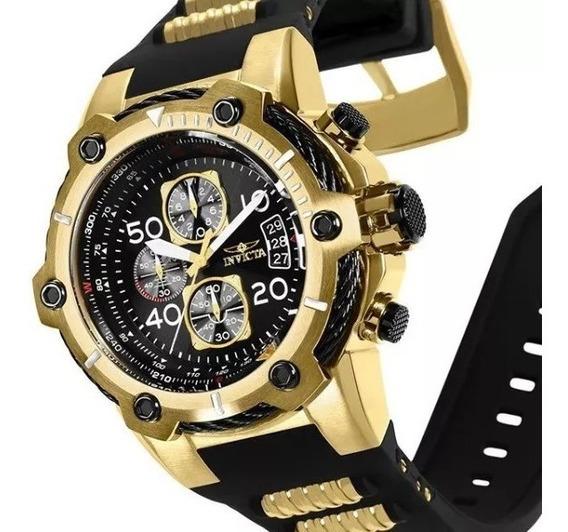 Relógio Invicta 25874 Masculino Banhado Ouro 18k Original