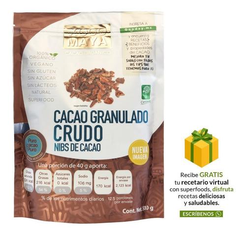 Imagen 1 de 8 de Nibs De Cacao Orgánico Crudo 500 G Xoco Maya