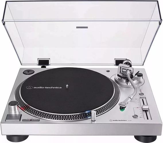 Toca Discos Audio Technica Lp120x Prata/original/bivolt/novo