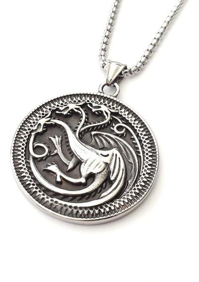Dije De Acero Inoxidable Casa Targaryen Game Of Thrones