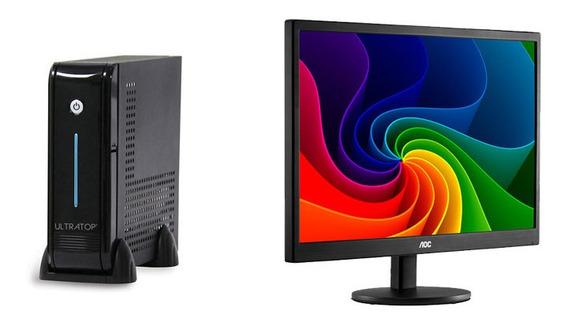 Computador Dual Corej3060 4g 120g+monitor Aoc E970swnl 18,5