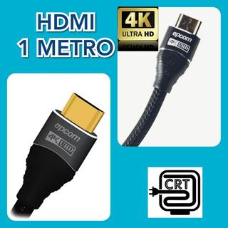 Cable Hdmi 1 Metro Redondo 4k Ultra Hd Version 2.0 Audio Vid