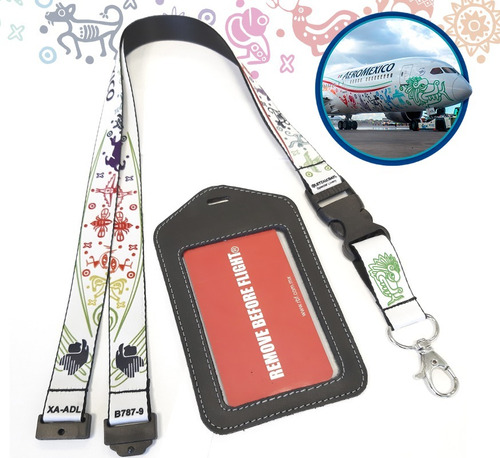 Lanyard Livery Quetzalcoatl + Id Holder Remove Before Flight