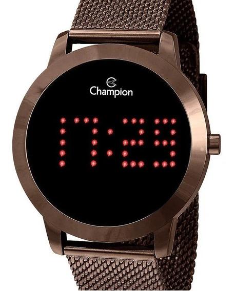 Relógio Feminino Champion Digital Marrom Ch40017r Escreve 40