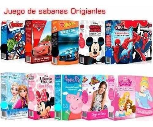Imagen 1 de 6 de Juego De Sabanas 1 Pl Infantil Niño Disney