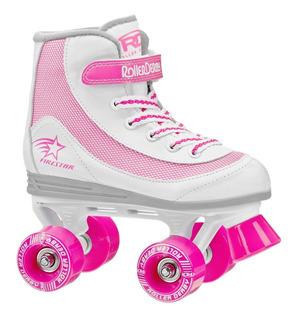 Patin Artistico Nena Niña Patines Roller Derby Firestar Rosa