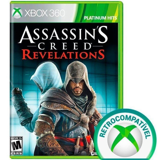 Jogo Assassins Creed Revelations Xbox 360 Disco Fisico Novo