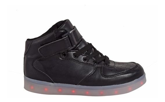 Zapatillas Botitas Luces Led Clásica Cargador Usb (0221)
