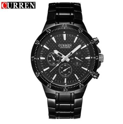 Relógio Curren 8063 Masculino Luxo Preto