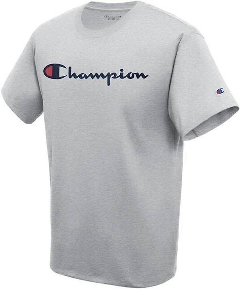 Playera Champion Jersey Ringer Big C Logo Unisex Color Gris