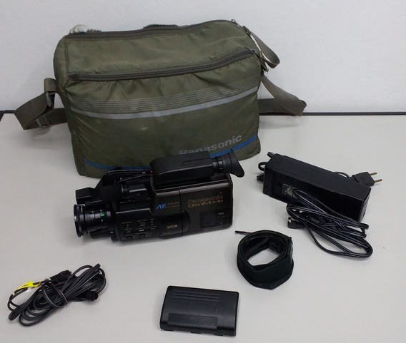 Kit Filmadora Panasonic Ominimovie Vhs