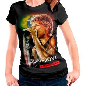 Camiseta Bon Jovi Rock In Rio 2019 Brasil Autografada