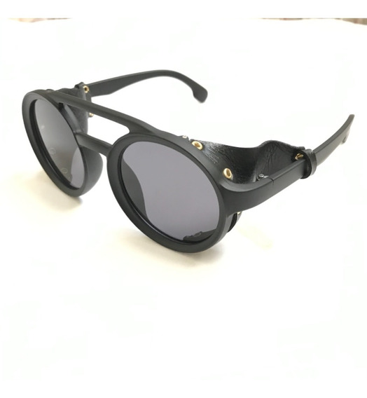 Óculos De Sol Masculino Steampunk Trend Acetato Polarizado