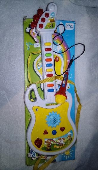 Piano Guitarra Con Microfono Niños