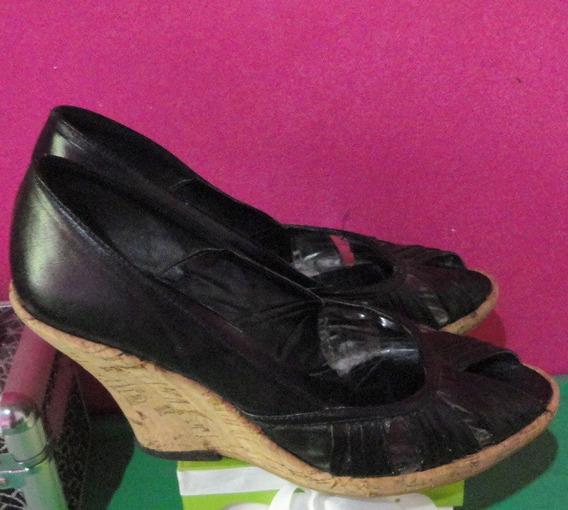 Zapatos Taco Chino Plataformas Nº 38