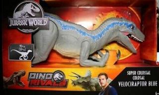 Velociraptor Blue Super Colossal Jurassic World 2 93cm !!