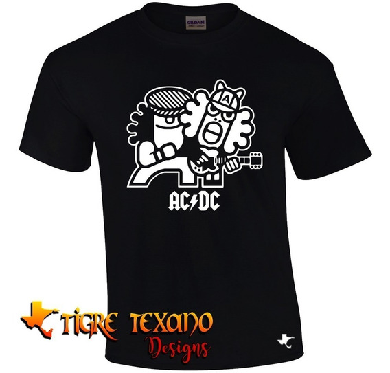 Playera Bandas Toons Ac Dc By Tigre Texano Designs