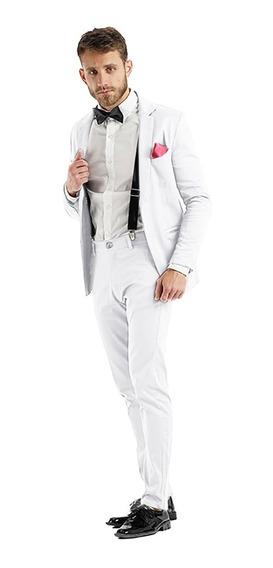 Pantalones Hombre Chupines Con Saco Slim Fit De Vestir Traje