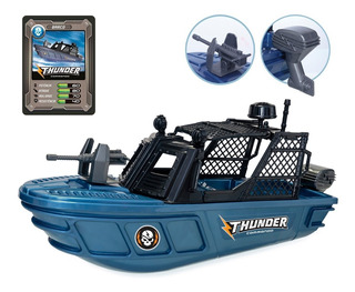 Barco De Brinquedo Thunder Comando Infantil Usual Brinquedos