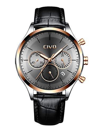 Civo Reloj Para Hombre Impermeable Cronógrafo Multifunciona