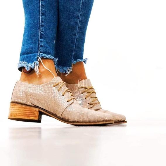 Zapatos Acordonados Slipper Bajo Reptil