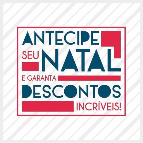 Adesivo Vitrine Natal Descontos + Aplicador Grátis