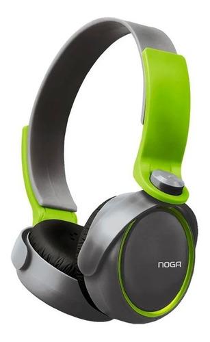 Imagen 1 de 2 de Auriculares Noga NG-904 negro y verde