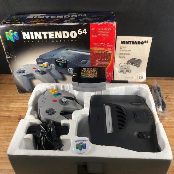 Nintendo 64 Original Na Caixa Desbloqueado C/ 3 Jogos!! Top