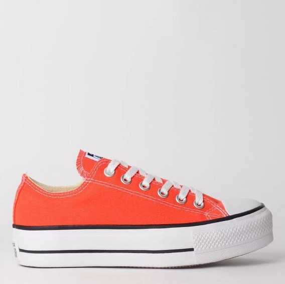 Tênis Converse All Star Platform Fogo Ct09630012 Original