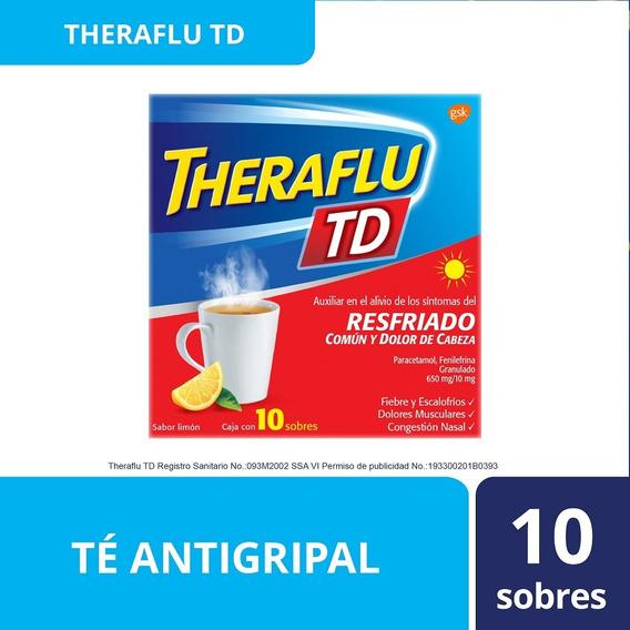 Te Antigripal Día Sabor Miel-limon 10 Sobres Theraflu