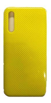 Protector Samsung A10 Agujeros Color Amarillo