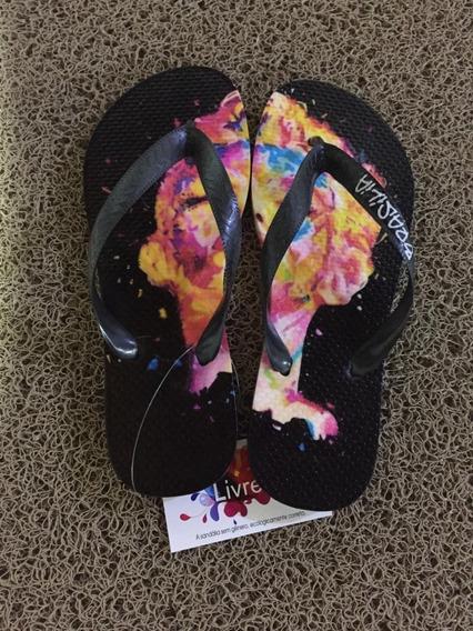 Sandálias Exclusivas Com Pintura 3d