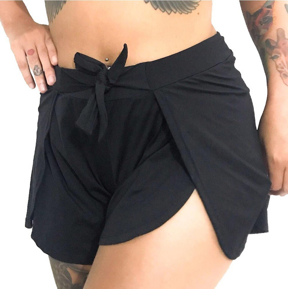 Shorts Feminino Saída De Praia E Piscina Verão Envelope