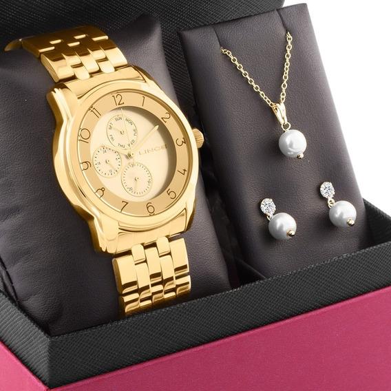 Kit Relógio Feminino Lince Lmg4589lkx93c2kx