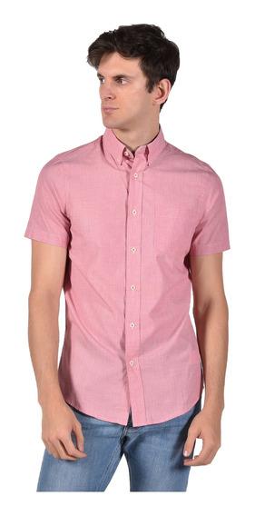 Camisa Classic Fit Chaps Rojo 750712372-31kq Hombre