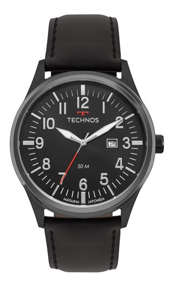 Relógio Technos Masculino Pulseira De Couro 2115mtc/2p Nfe
