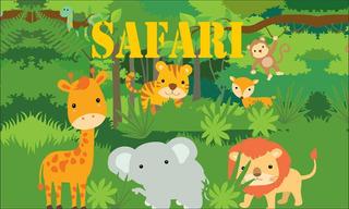 Banner Painel Festa Lona 1,5x1 Anti Reflexo Safari Animais
