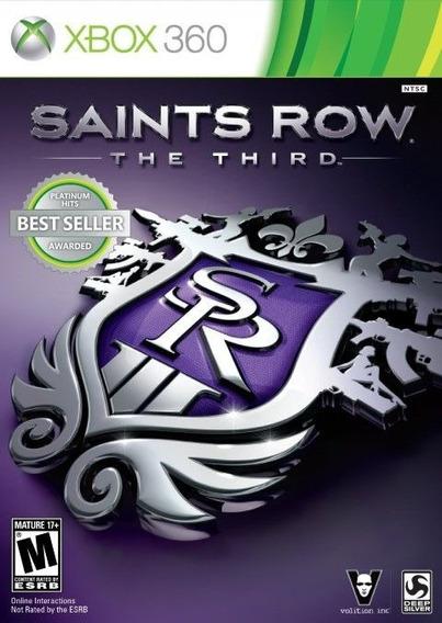 Jogo Xbox 360 Saints Row The Third M.física Original Lacrado