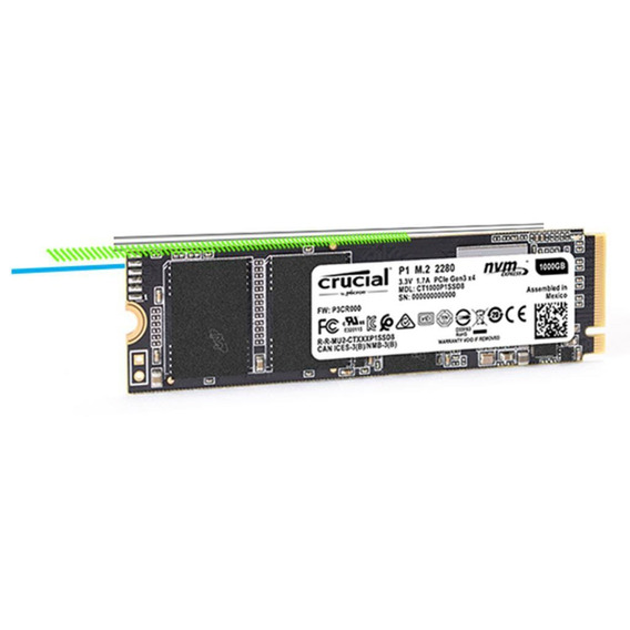 Ssd M.2 1tb Nvme Pcle 2280 Crucial 2000mb/s-1700mb/s