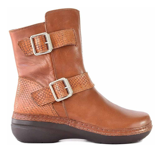 Bota Cuero Mujer Briganti Zapato Botita Goma - Mcbo24936 Vp